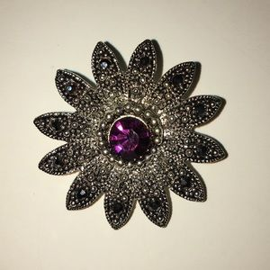 Purple and Silver Pin
